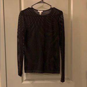 See-thru mesh shirt, skin tight
